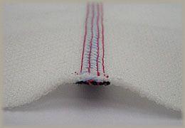 縫製工場ミヤモリ フラットシーマ 縫い目