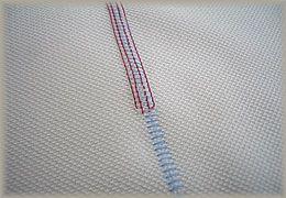 縫製工場ミヤモリ フラットシーマ 縫い目3