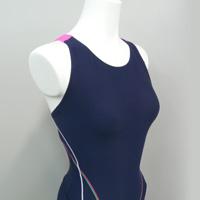 縫製工場 ミヤモリ OEM生産事例 レディスフィットネス水着 平三本針ゼブラステッチ